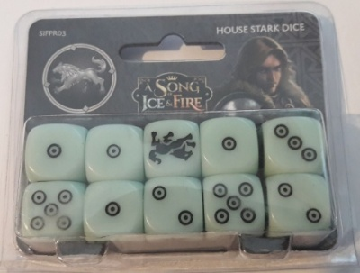 A Song of Ice & Fire - House Stark Dice