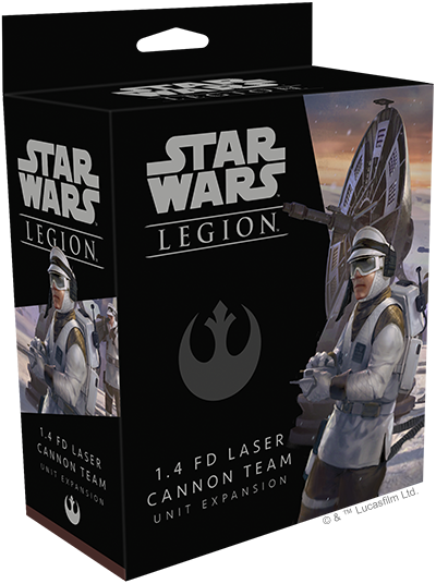 Star Wars Legion: 1.4 FD Laser Cannon Team Unit
